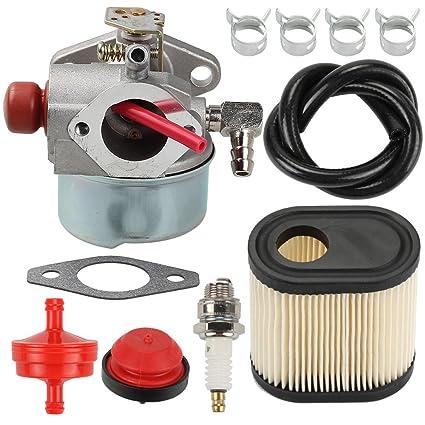 Amazon.com: hilom 640350 carburador Filtro de aire Bujía ...