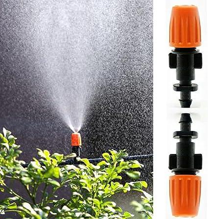 200Pcs Garden Irrigation Mist Micro Flow Dripper Water Drip Head Hose Sprinklers