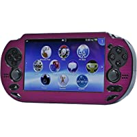Monoprice Playstation Vita de Aluminio Cepillado Funda Protectora Clamshell–Fucsia (109214)