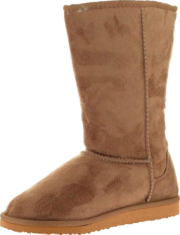 Vegan Mid Calf Slip On Boots