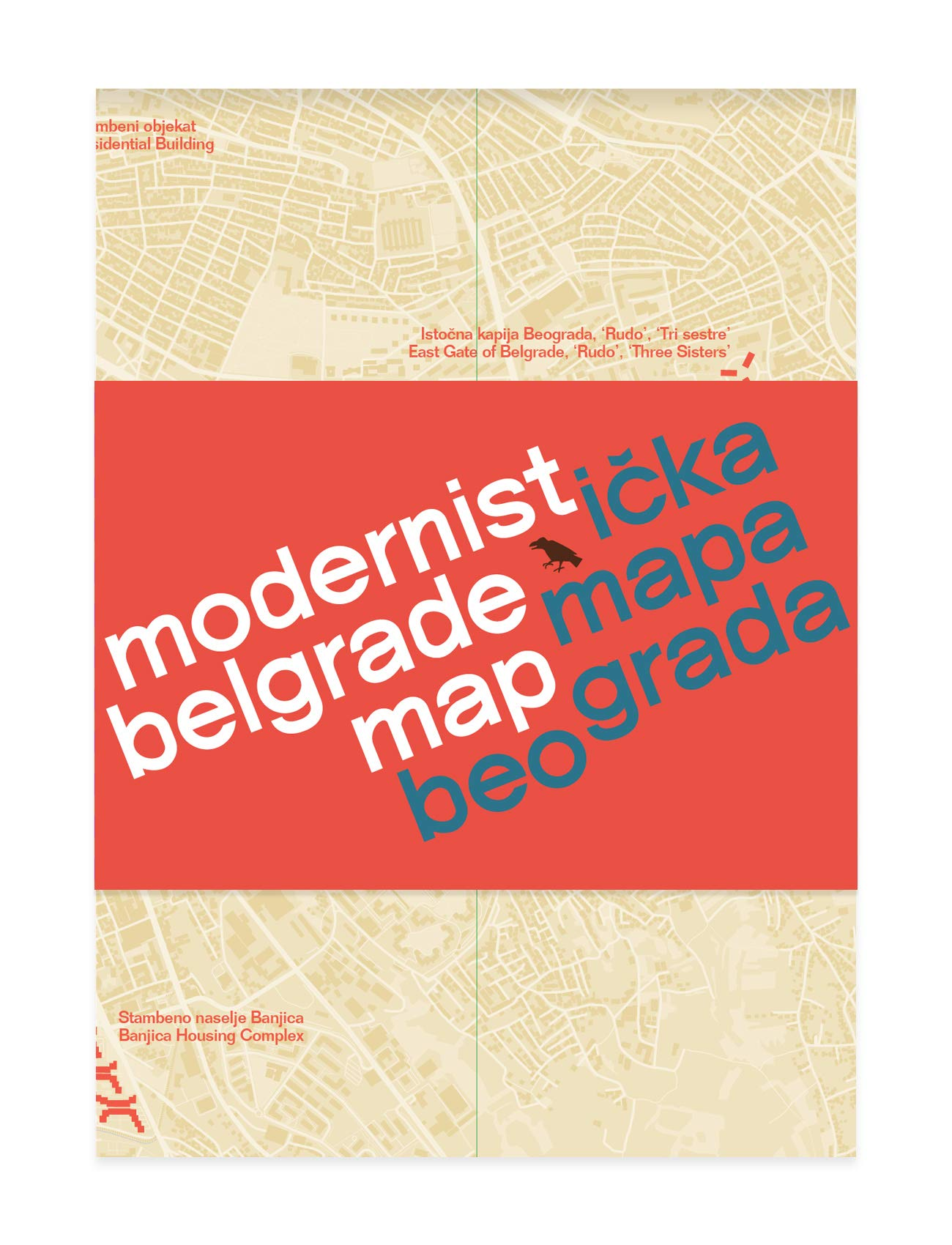 Modernist Belgrade Map Modernisticka Mapa Beograda Ljubica
