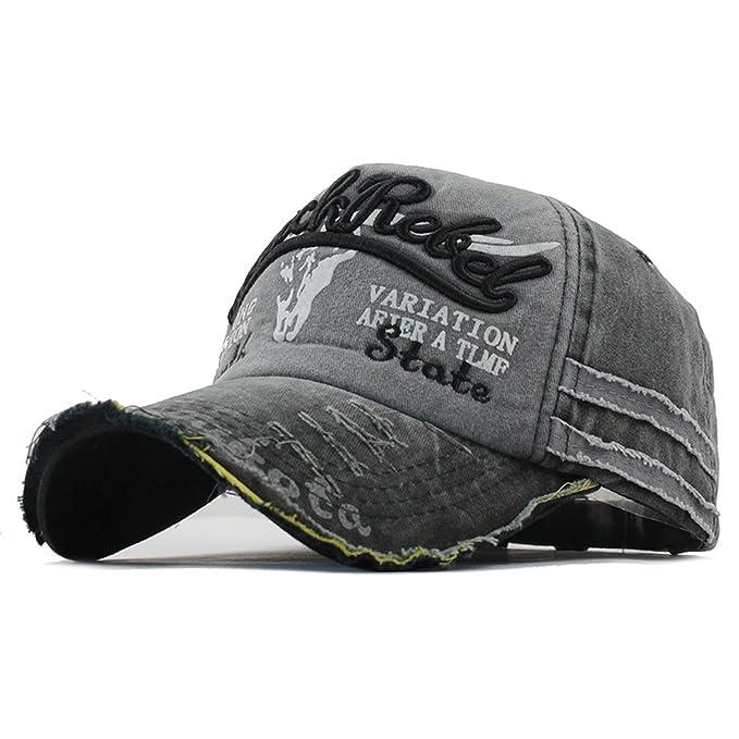 a05628ff Amazon.com: Sivane Men Baseball Caps Dad Women Caps Hats for Men Fashion Hat  Letter Cotton Cap: Clothing