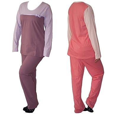 ee03c46fca838 Dazoriginal Ensembles de Pyjama pour Femmes de Nuit Pyjama Manche Longue  Coton 2