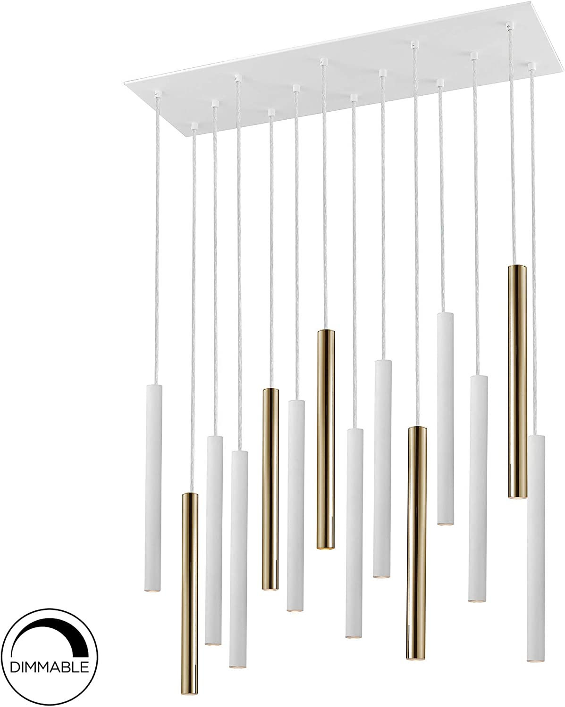 Lámpara SCHULLER VARAS de 14 luces LED. Realizada en metal acabado ...