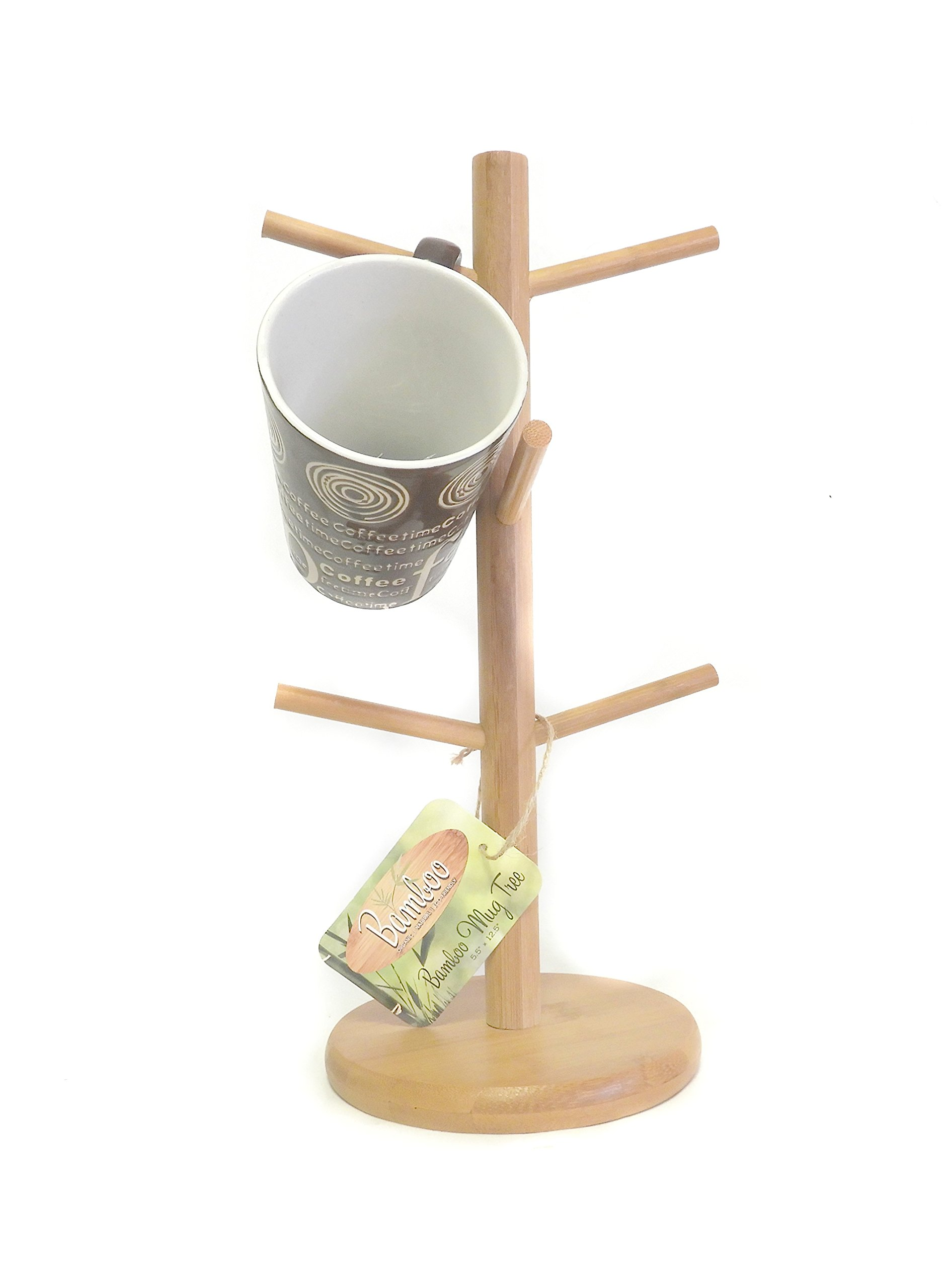 natural Bamboo Mug Tree Keeps Your Kitchen Organized