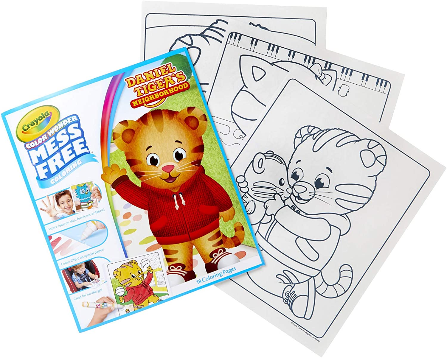 Amazon Com Crayola Color Wonder Daniel Tiger S Neighborhood 18 Mess Free Coloring Pages Kids Indoor Activities At Home Gift For Age 3 4 5 6 Toys Games