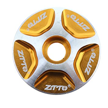 "Headset Top Cap Bicycle Stem Cap Lid Aluminum 1 1//8/"" MTB CNC Headset Top Cover"