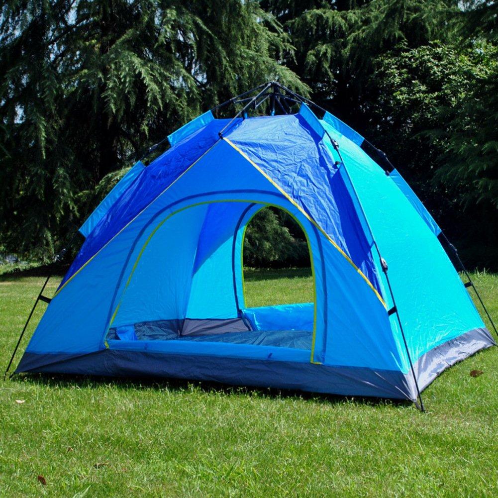 TY&WJ Vollautomatische Campingzelt,Hydraulische Doppeltür Kuppelzelte Einlagige Zelte Für Outdoor-sportarten Wandern Klettern Tragbares Zelt 3-4 Personen