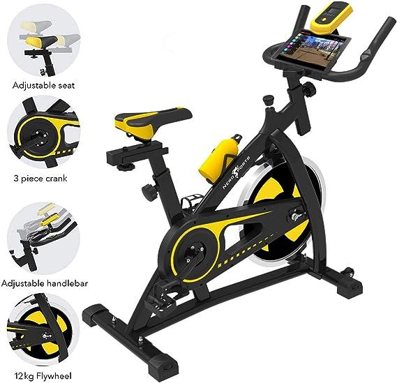 Bicicleta de Ejercicios Aeróbicos Spinning Nero Sport para Interiores Bicicleta Estática de Entrenamiento Fitness Ejercicios Cardiovasculares: Amazon.es: Deportes y aire libre
