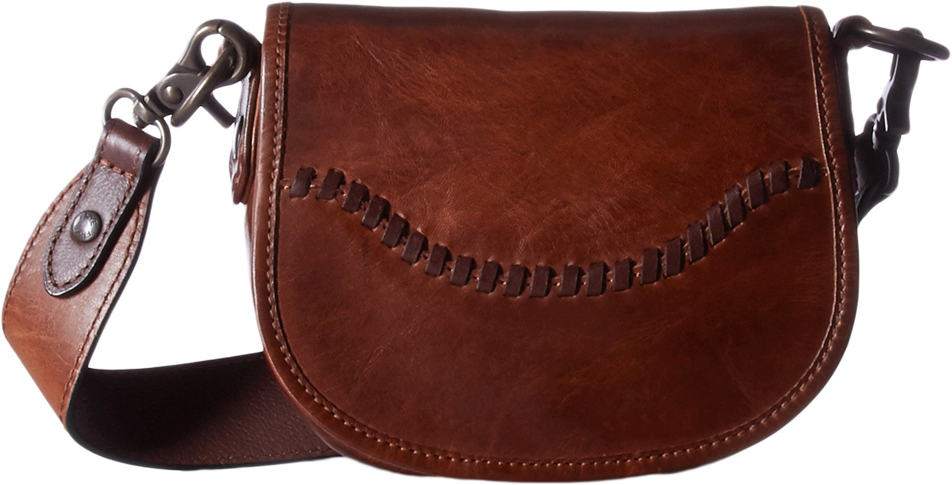 FRYE Melissa Whipstitch Mini Saddle, Cognac by FRYE