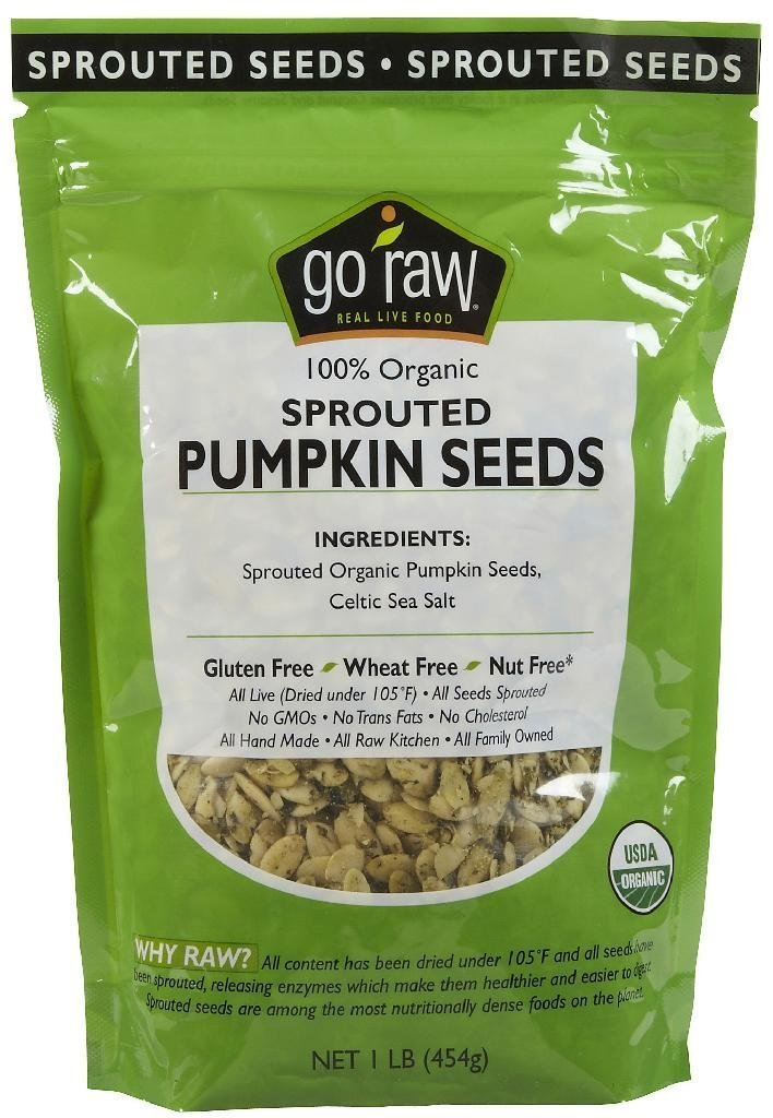 Go Raw Sprouted Pumpkin Seeds, 1 lb
