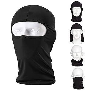 L&M Balaclava (2 Pack) Ski Mask, Motorcycle Premium Face Mask Ninja Mask