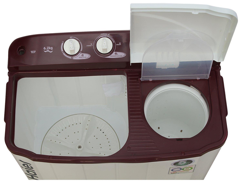 Haier 6.2 kg Semi-Automatic Top Loading Washing Machine (XPB62-0613RU, Ruby  Red): Amazon.in: Home & Kitchen