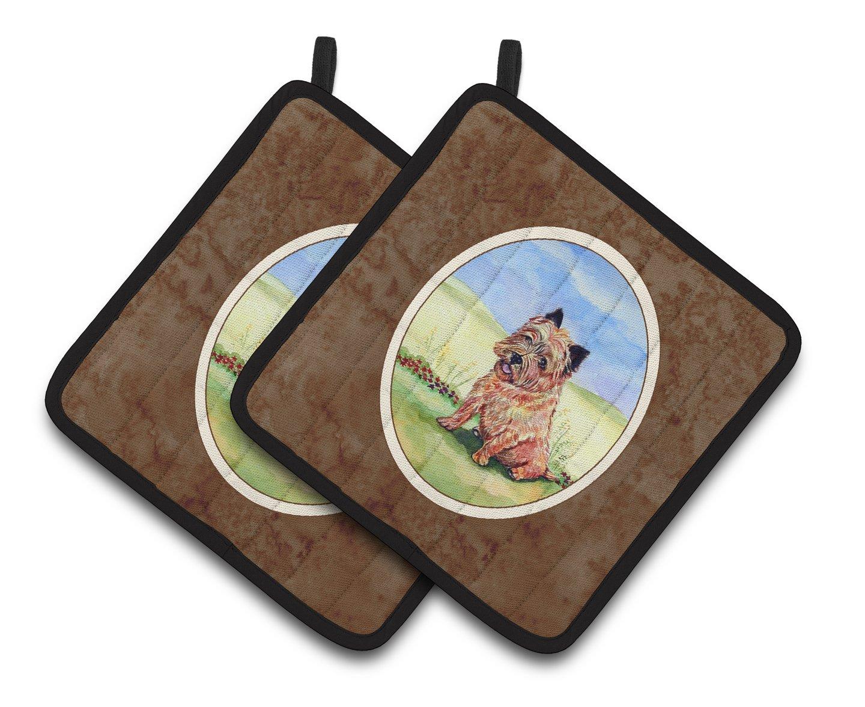 Carolines Treasures Cairn Terrier /& The Chipmunk Pair of Pot Holders 7017PTHD 7.5HX7.5W Multicolor