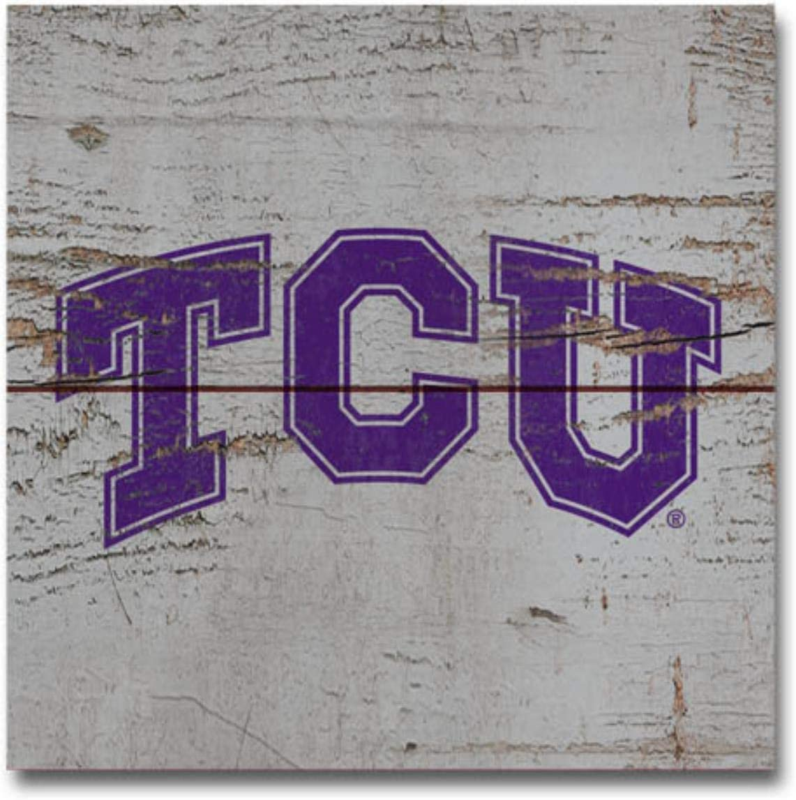 NCAA Legacy Tcu Horned Frogs Wood Plank Magnet 3x3 Wood One Size