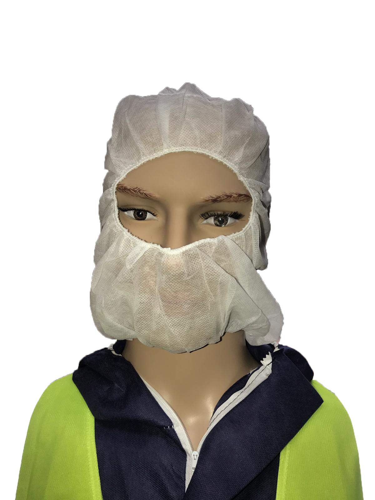 Shield Safety - 21'' - Disposable Personal Protection - Hood - White - 1000 Pieces = 1 MSTR by PackagingSuppliesByMail (Image #1)