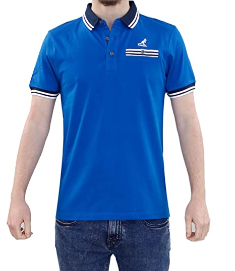 Top de la camiseta del verano del bolsillo del botón del polo del ...
