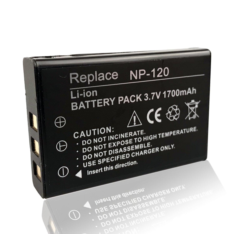 Mattery np-120 Li - Ionバッテリー3.7 V 1700 mAh充電式バッテリーSuitable for KINGEAR hdv-d395ナイトビジョンデジタルビデオビデオカメラ、2パック   B07BCHQKKG