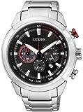Citizen - CA4110-53F - Montre Homme - Quartz Chronographe - Cadran Noir - Bracelet Acier Argent