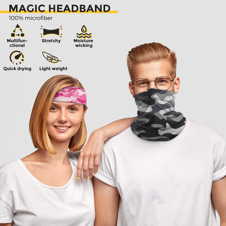 Outdoor Sports onehous 2 Pack Bandana Face Mask Multifunctional Elastic Bandanas Sun UV Protection Face Mask Neckerchief Seamless Balaclava for Women Men Running Hiking Cycling Motorcycling