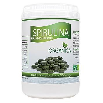 Spirulina Orgánica 500mg - 1000 comprimidos: Amazon.es: Salud y cuidado personal