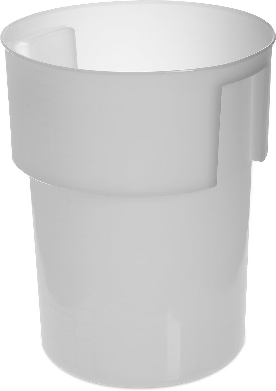 Carlisle 220002 BPA-Free Bains Marie Round Storage Container, 22 Quart, White