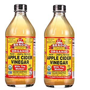Bragg Organic Apple Cider Vinegar - 16 Ounce (Pack of 2)