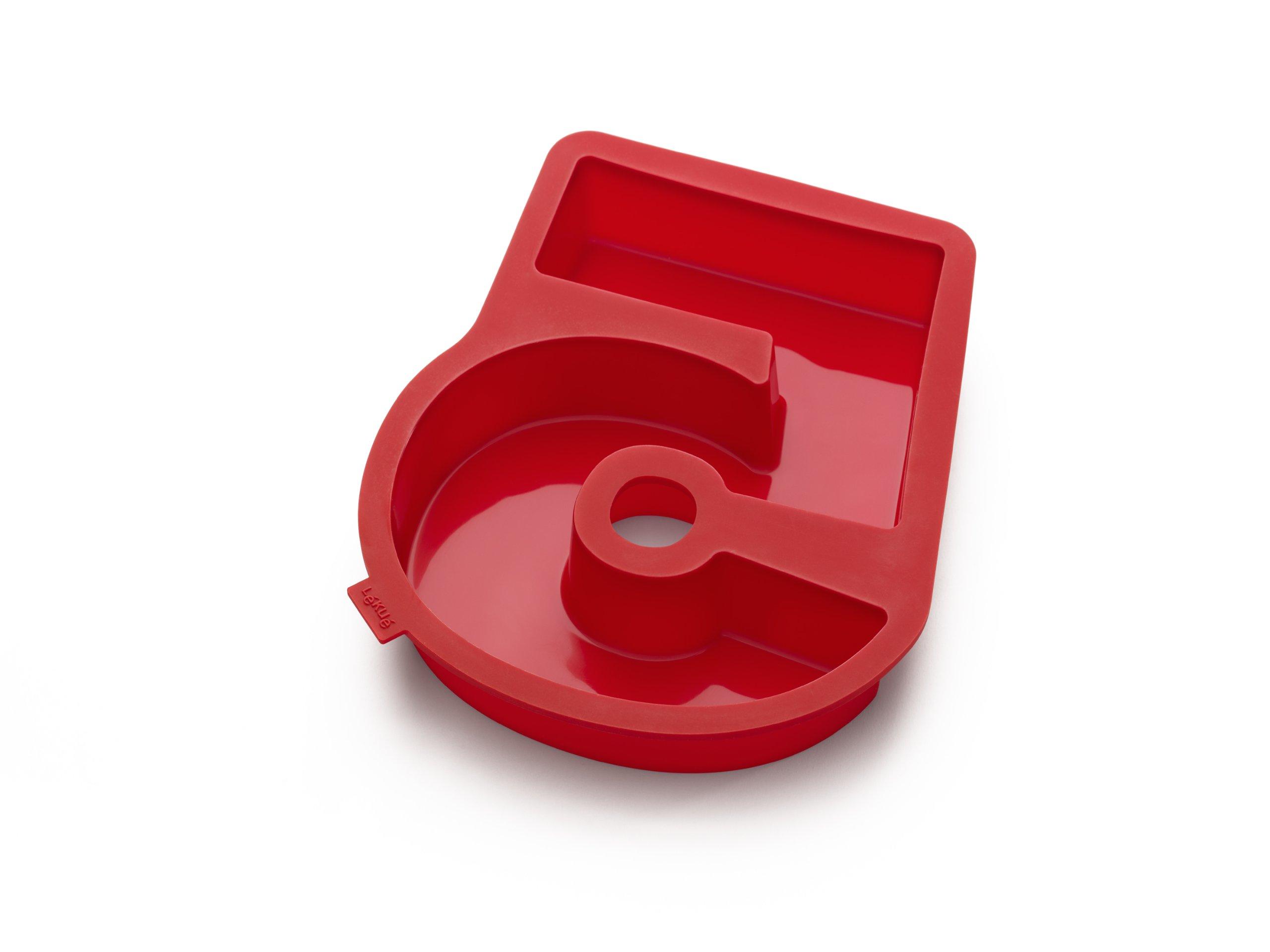 Lekue Number 5 Cake Mold, Red