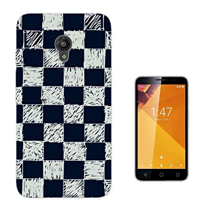 003260 - Hand Drawn Checkers Chess Board Design Vodafone Smart Turbo 7 Fashion Trend CASE Gel
