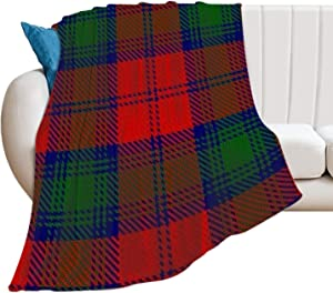 Flannel Fleece Throw Blanket Scottish Clan Lindsay Lindsey Tartan Pattern Ultra Soft Home Blanket for Indoor Outdoor Multiple Colors Available Hotel Blanket for Women Men, 30 x 40 in