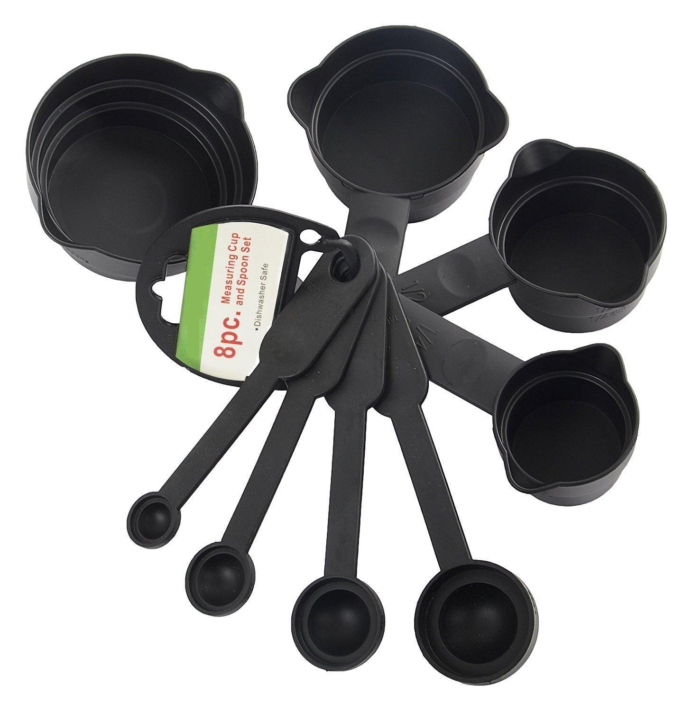 Floraware Baking Measurement Measuring Cups and Spoons Set 8 Pcs