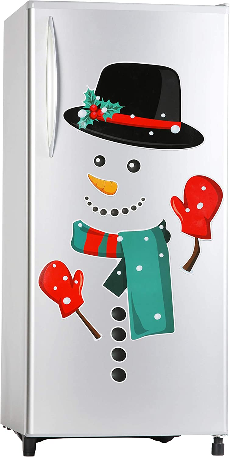 Christmas Decorations Refrigerator Magnets Set,12Pcs Funny Snowmen Fridge Magnets Stickers Christmas Holiday Kitchen Decor Indoors for Fridge,Dishwasher,Garage,Metal Door,Office Cabinets