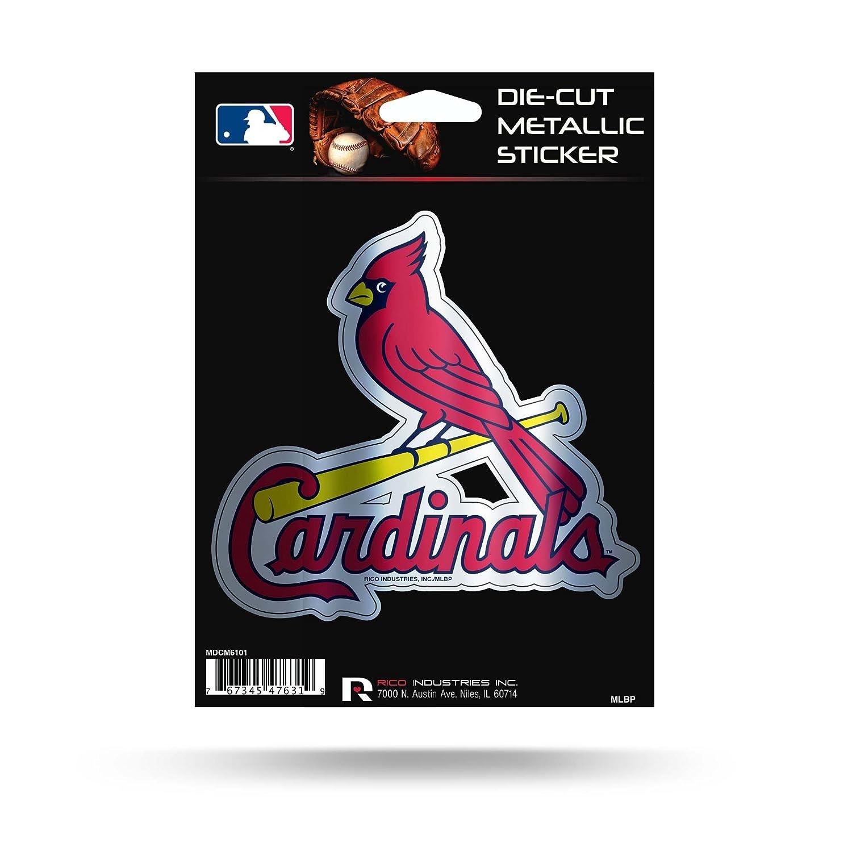 Rico Industries Cardinals Sl Die Cut Metallic Sticker