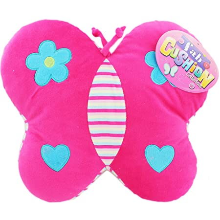 Pink Butterfly Cushion Childrens Cushions Travel Cushion Bedroom