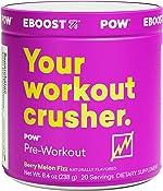EBOOST POW Natural Pre-Workout – 20 Servings - Berry Melon Fizz