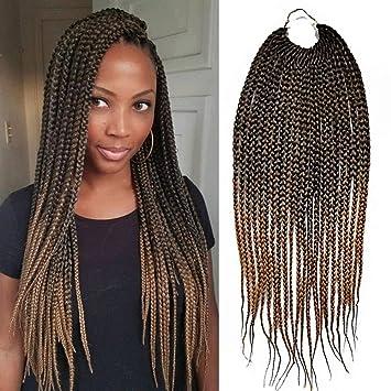 18 inch Crotchet Box Braids Crotchet Braids Senegalese Expression Braiding  Hair Hairstyles Havana