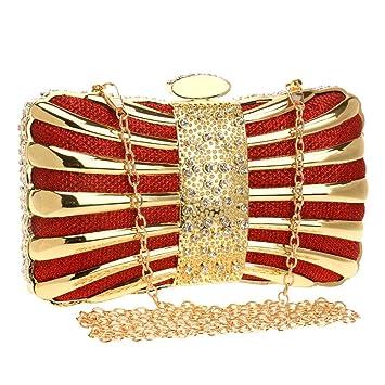 Yamyannie Donna Clutch Borsa Bolso de Noche Cubierto de Diamantes de imitación Brillantes por Todas Partes Caja de Caja pequeña Embrague Mujer Bolso de Boda ...