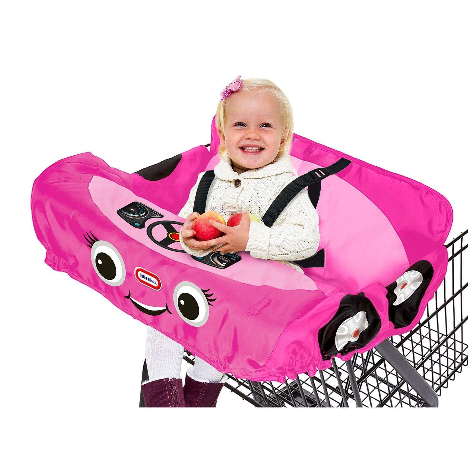 Cozy Coupe Shopping Cart Cover - Pink - High Chair Cover, Shopping Cart Cover, Grocery Cart Cover