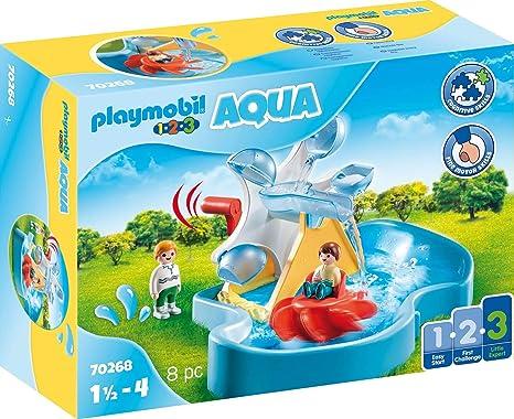 PLAYMOBIL-1.2.3 Aqua 70268 Carrusel Acuático, A partir de 2 años