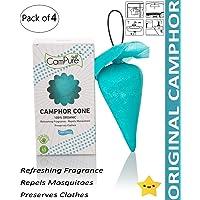 Mangalam Campure Original Camphor Cone - Room Freshener, Mosquito - Insect Repellent (Pack Of 4)