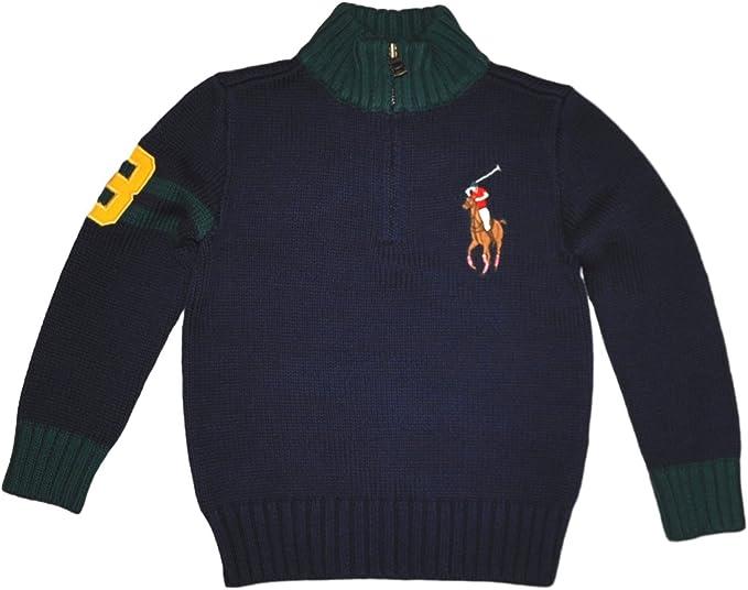 Polo Ralph Lauren - Jersey infantil azul, con caballo, para niños ...