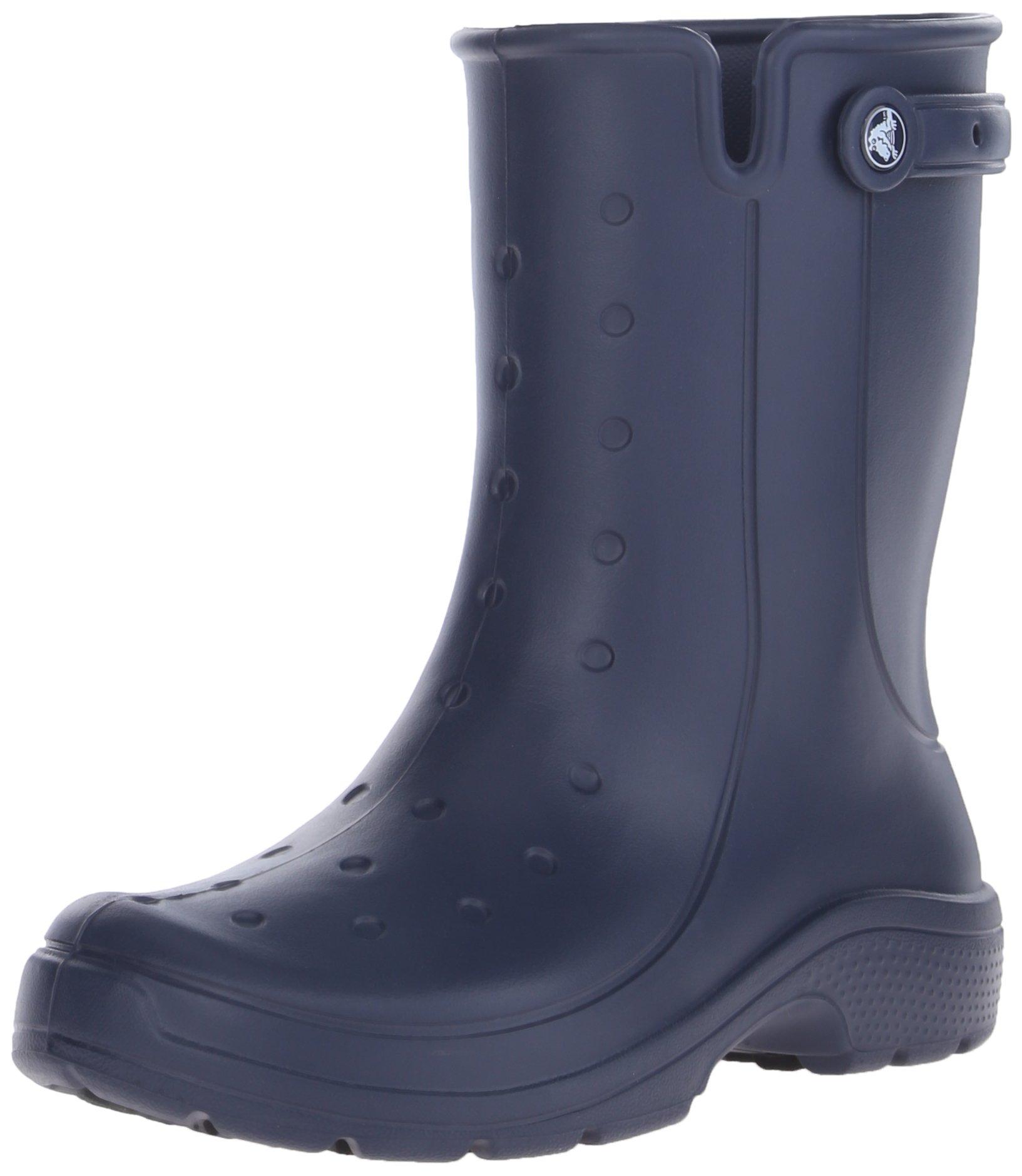 Crocs Unisex Reny II Rain Boot, Navy, 7 M (D) US Men/9 M (B) US Women