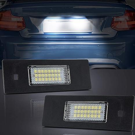 B-M-W E87 Luces en la placa de matrícula 24-SMD LED Libre Error para 1