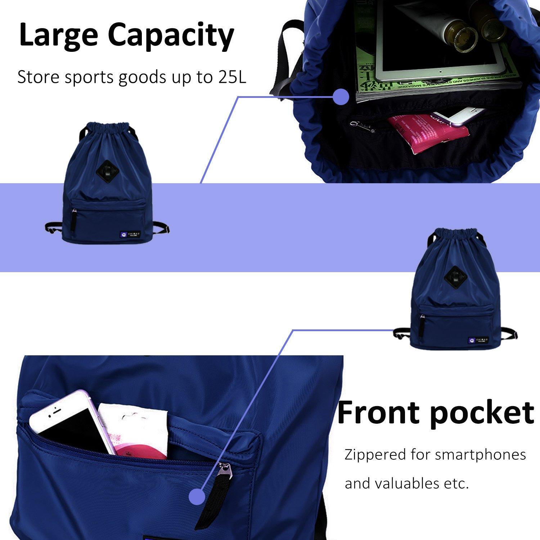 IVIM Waterproof Drawstring Bag Gym Bag Sackpack Sports Backpack for Men Women Girls