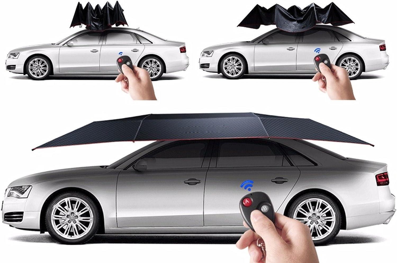 Tienda de campaña automática de coche – para techo de coche con mando a distancia anti-UV resistente al viento sol refugio paraguas (azul oscuro): Amazon.es: Coche y moto