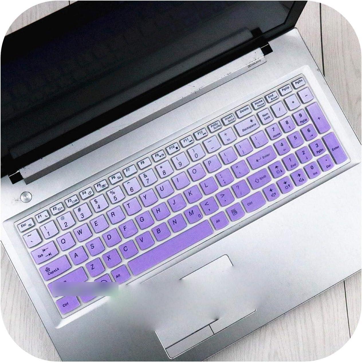 15.6 17.3 Silicone Keyboard Protector Cover Skin for Lenovo Y70-70 300-17 Y50C B70-80 B71-80 V2000 V4000 Y50C G50-70 Z50 N50-Gradualpurple