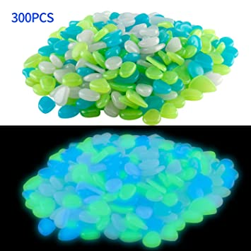 Phetron 300pcs Luminous Pebble Piedra para jardín Pebbles piedra ...