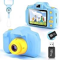 YunLone Cámara para Niños 12MP Selfie Cámara Digital 1080P HD Video Cámara Infantil 32GB TF Tarjeta, Estuche de…