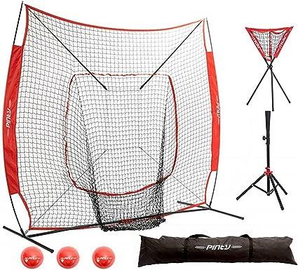 Portable Baseball Softball Practice Hitting Tripod Stand Ball Caddy Lightweight