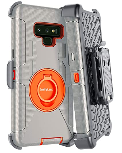 more photos 74499 cf526 Dailylux Galaxy Note 9 Case,Note 9 Case Belt Clip Heavy Duty Shockproof  Swivel Belt Clip Rugged Bumper Hybrid with Kickstand Holster Protective  Cover ...